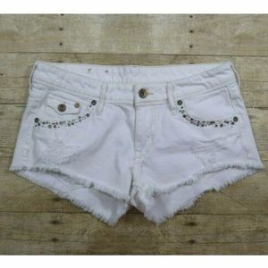 Denim & Denim H&M White Shorts Mini Booty short Bl